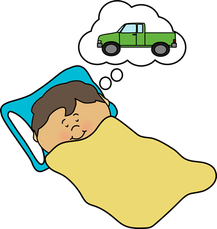 Kid Dreaming Clip Art