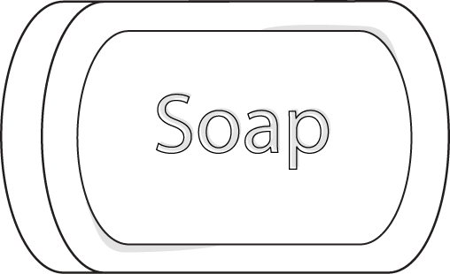 how to draw bar of soap Cartoon Bar of Soap  Bar Of Soap Coloring Page