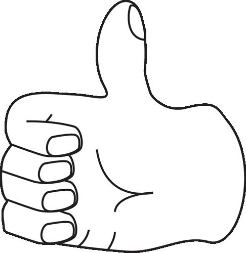 Black and White Thumb