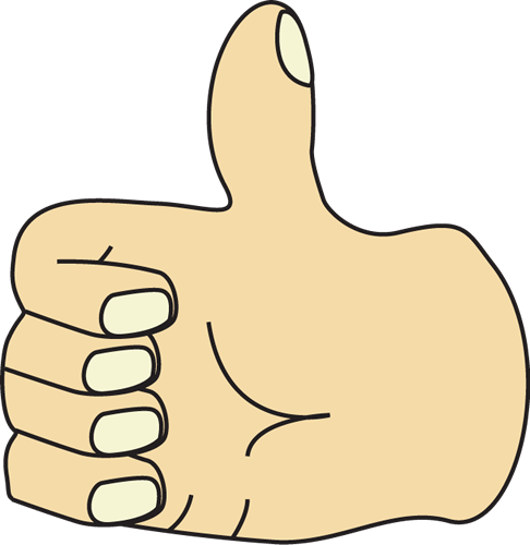 Thumb Clip Art Image - hand giving a thumbs up.