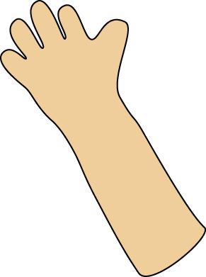 Waving Hand Clip Art Image - blank waving hand and arm. This image is ...