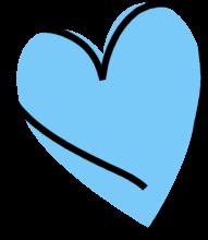 Funky Blue Heart