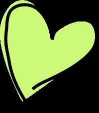 Funky Green Heart