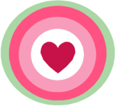 Green and Pink Heart Circle
