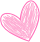 Pink Hand Drawn Scribble Heart