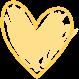 Yellow Scribble Heart