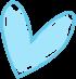 Blue Scribble Heart