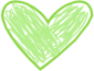 Green Scribble Heart