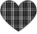Black Plaid Heart