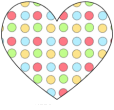 Bright Polka Dot Heart