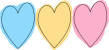 Blue, Yellow and Pink Heart Divider
