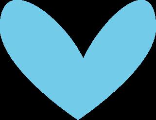 Modern Blue Heart