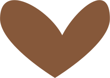 Modern Brown Heart