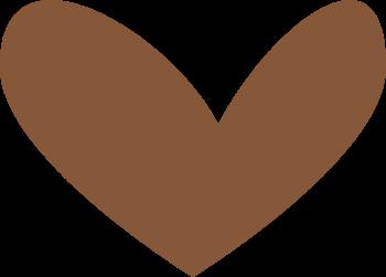 Modern Brown Heart Clip Art Modern Brown Heart Image