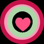 Pink Heart Circle