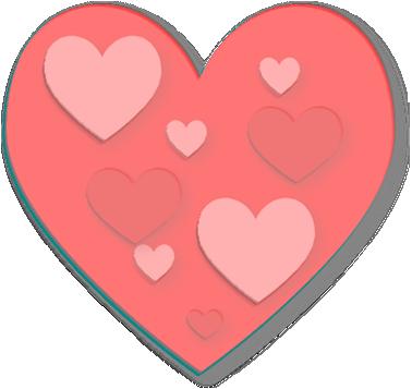 Pink Transparent Heart