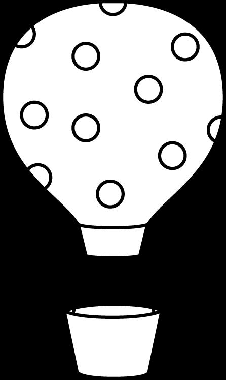 Black and White Polka Dot Hot Air Balloon