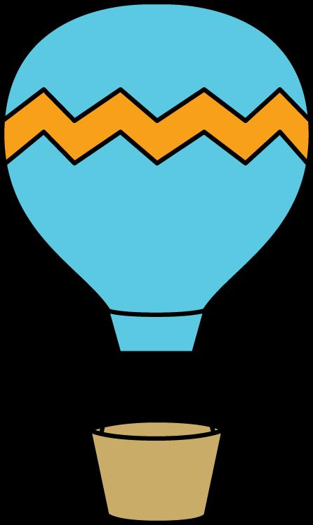 Blue and Orange Hot Air Balloon