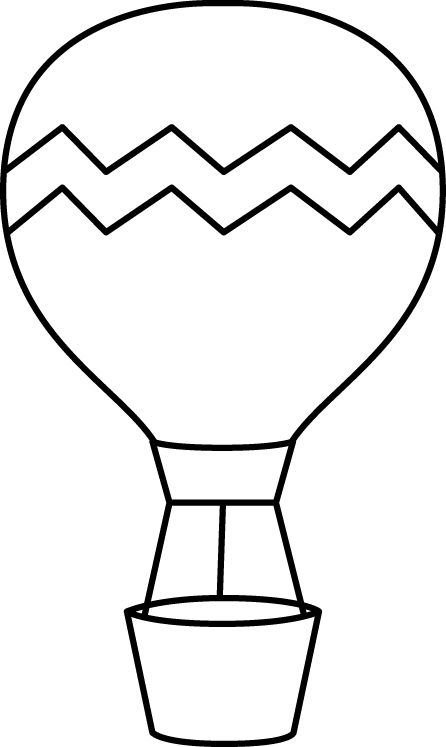 Black and White Striped Hot Air Balloon
