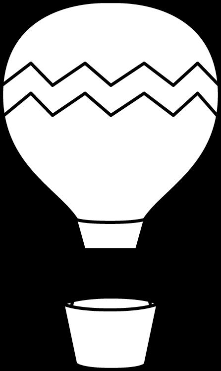 Black and White Striped Hot Air Balloon