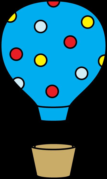 Colorful Polka Dot Hot Air Balloon