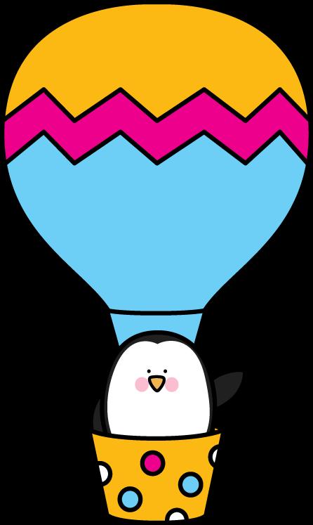 Penguin in a Hot Air Balloon