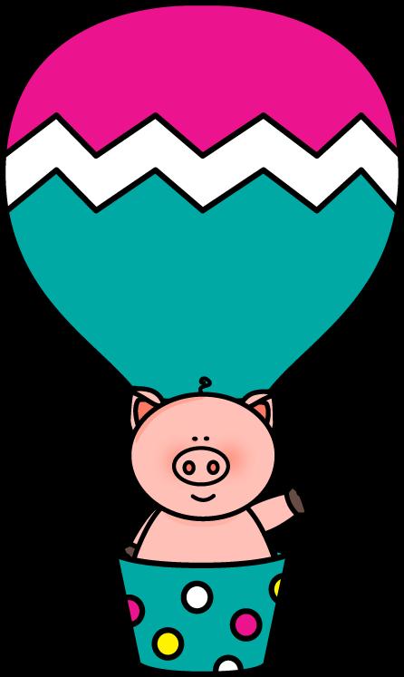 Pig in a Hot Air Balloon