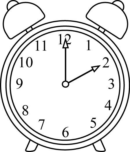 Black and White Alarm Clock