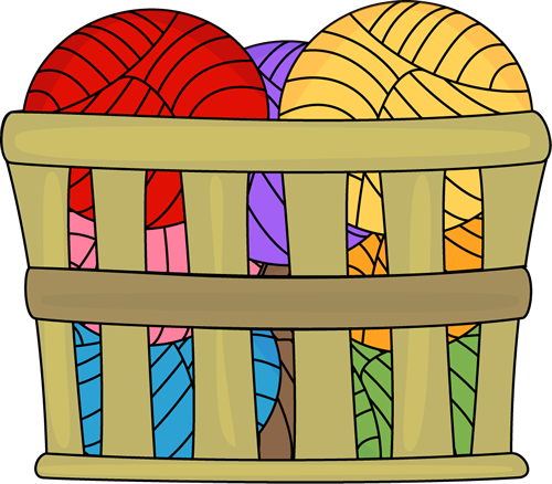 Basket of Yarn Clip Art
