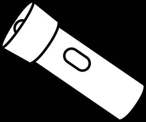 Black and White Flashlight