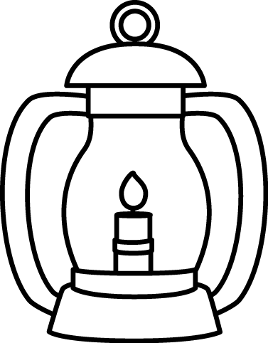 Black and White Lantern