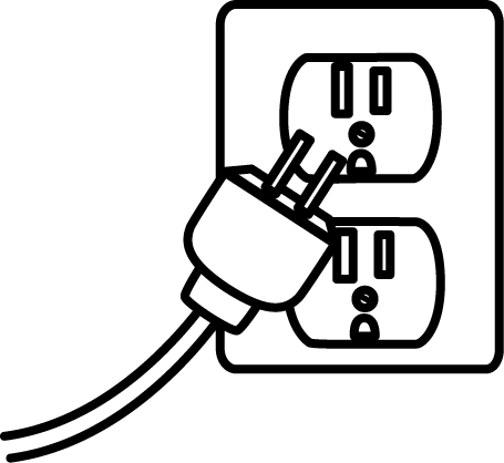 Black and White Electrical Plug Clip Art - Black and White ...