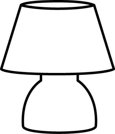 Black and White Small Lamp
