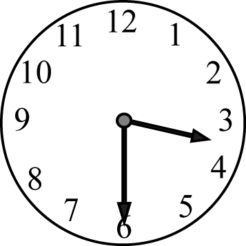 Half Past the Hour Clock Face