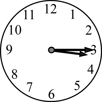 Quarter Past the Hour Clock Face