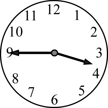 Quarter to the Hour Clock Face