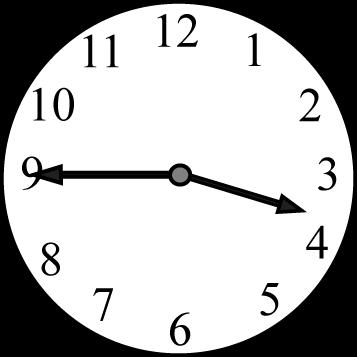 Quarter to the Hour Clock Face