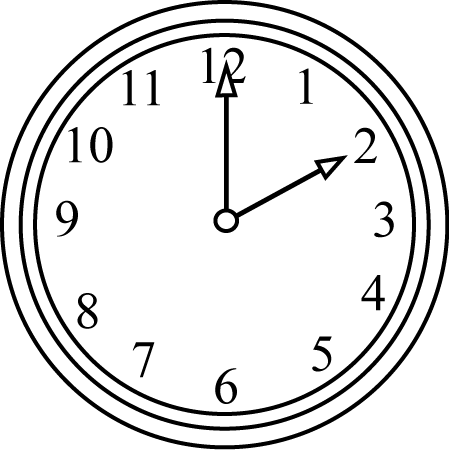 Black And White Clock On The Hour