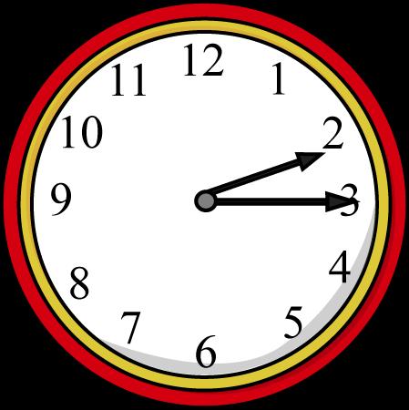 Clock Quarter Past the Hour