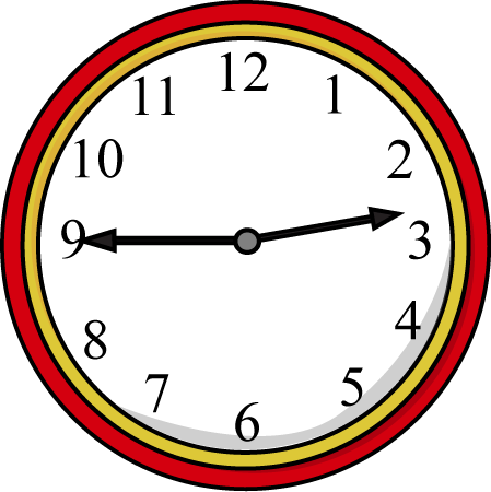 Clock Quarter To The Hour Clip Art Clock Quarter To The