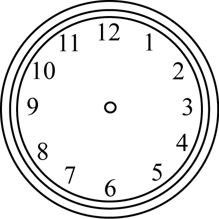 Black and White Clock without Hands