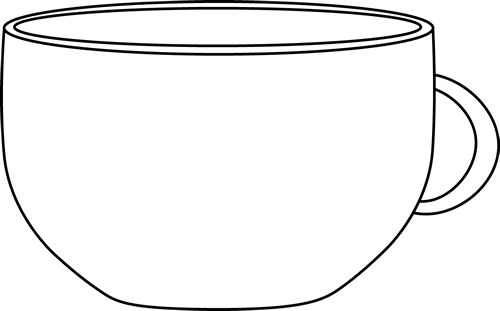 Black And White Cup Clip Art Black And White Cup Image