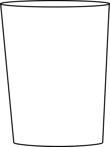 Black and White Drinking Glass