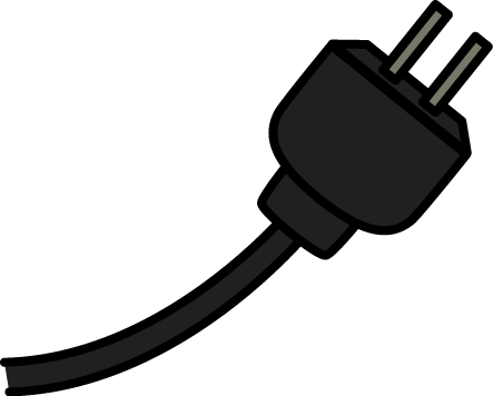 Black Electrical Cord Clip Art - Black Electrical Cord Image