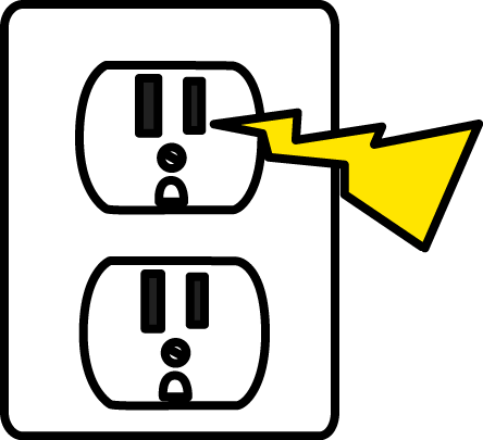 Electrical Zap Clip Art Image - electrical outlet with a yellow zap ...