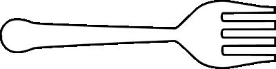 Black and White Horizontal Fork