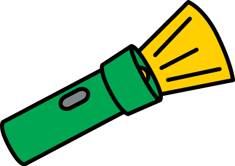 Glowing Flashlight Clip Art Image - green flashlight with a glowing ...