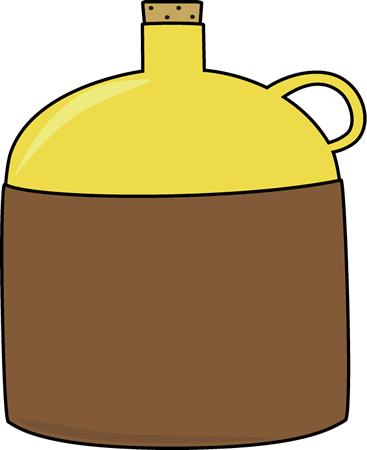 Brown and Yellow Jug Clip Art Image - large brown and yellow jug with ...