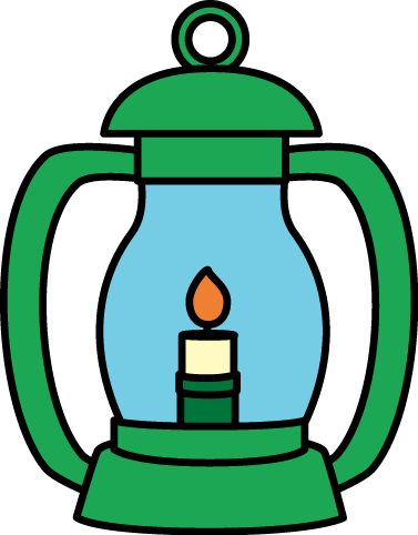 Clip Art Lantern Clipart lantern clip art image green with a handle and lit flame