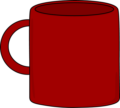 Clip Art Mug Clipart cups mugs and glasses clip art images red mug